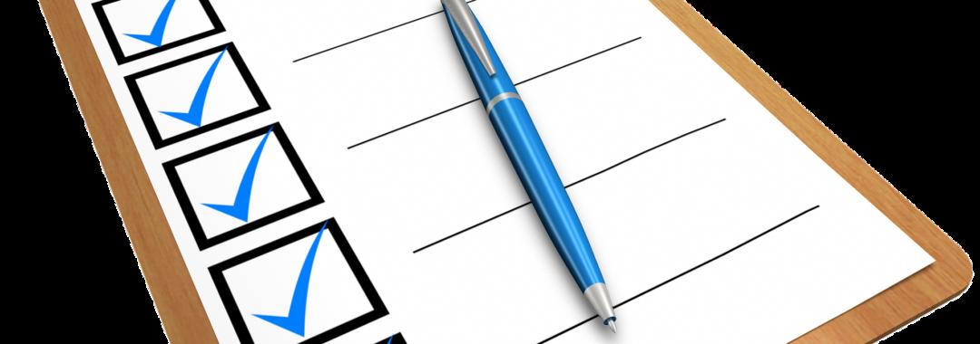 Arbeitsorganisation Checkliste